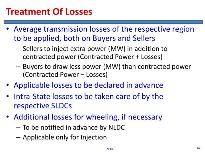 Treatment Of Losses