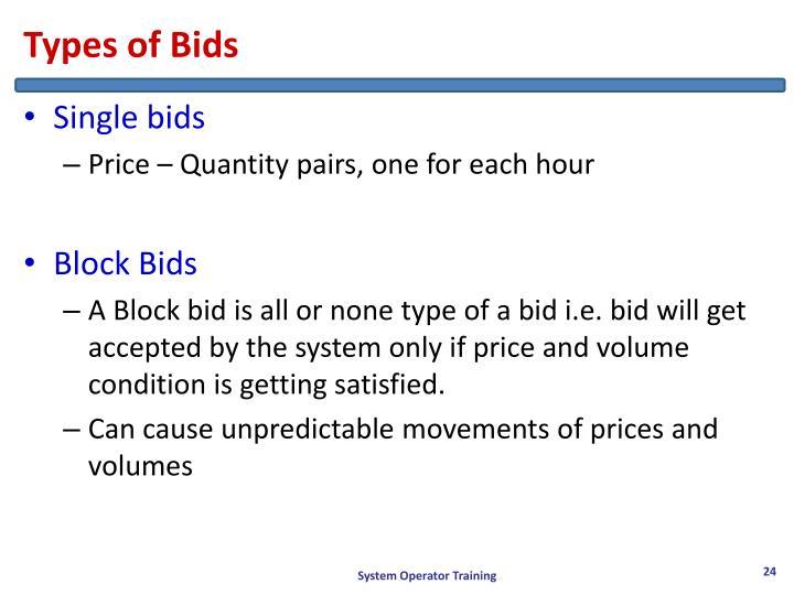 Types of Bids
