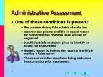 administrative assessment