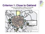 criterion 1 close to oakland2