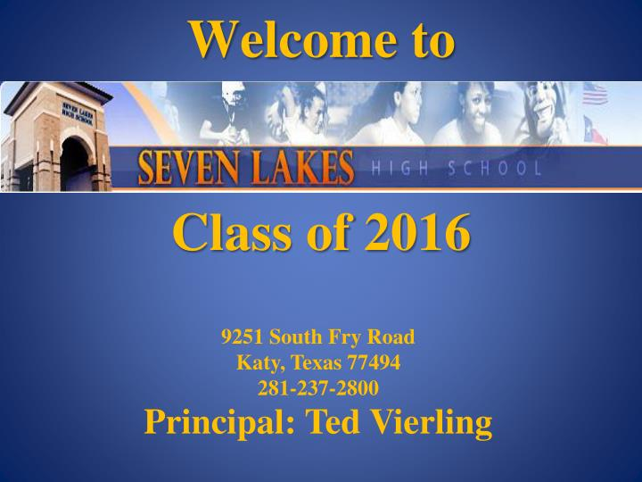 welcome to class of 2016 n.