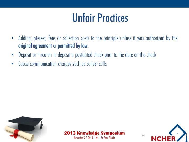 Unfair Practices