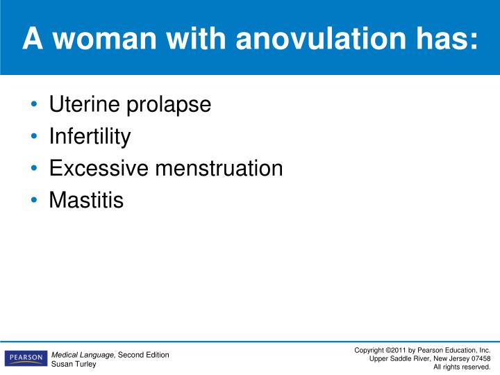 A woman with anovulation has: