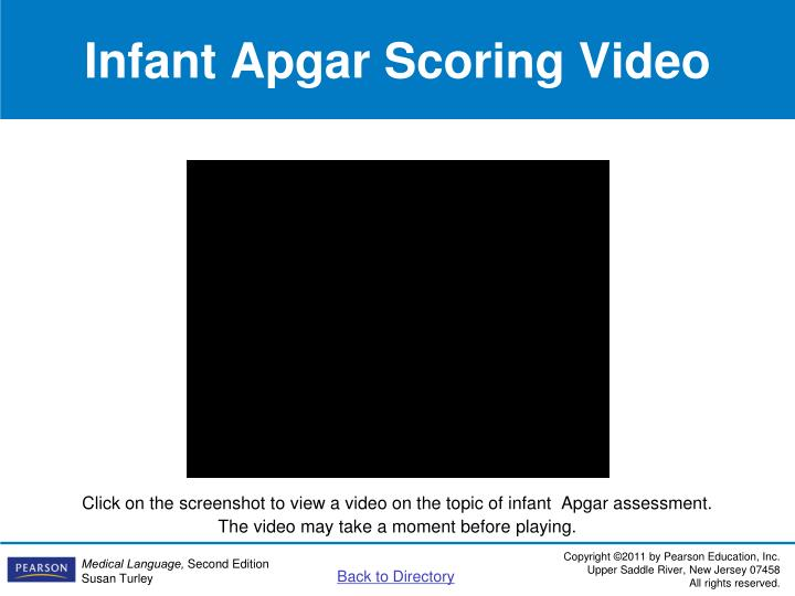 Infant Apgar Scoring Video