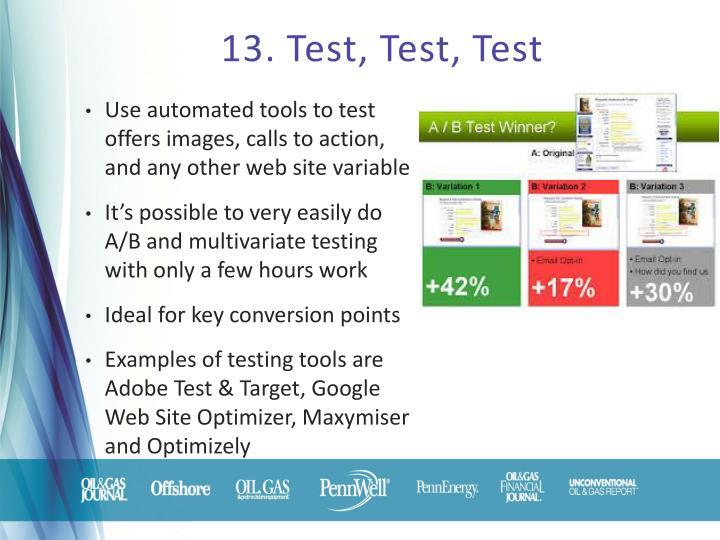 13. Test, Test, Test