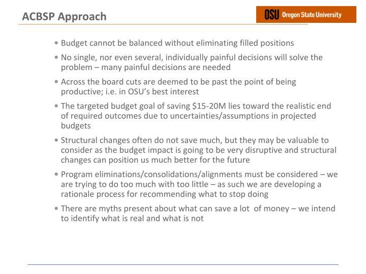 ACBSP Approach
