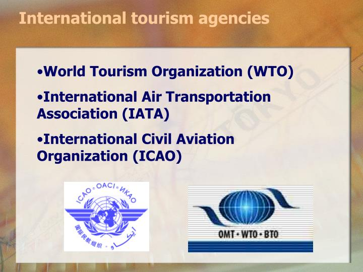 International tourism agencies