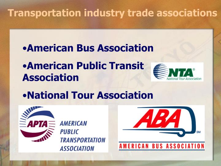 Transportation industry trade associations