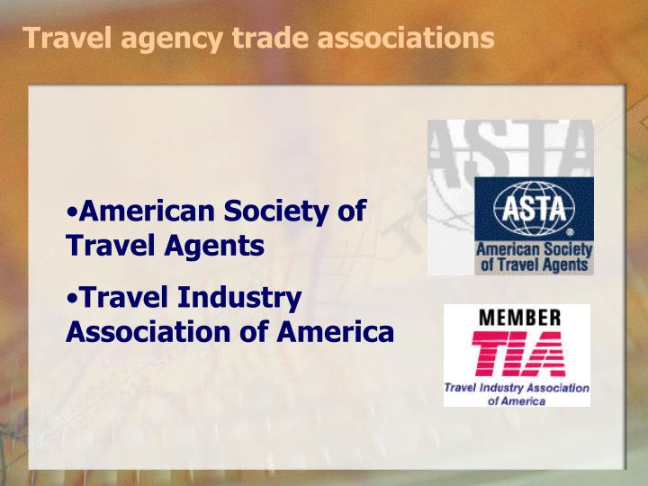 Travel agency trade associations