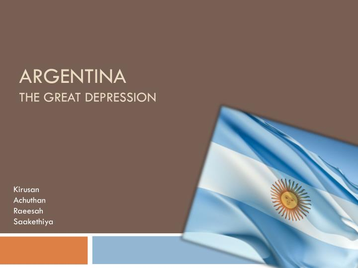 argentina the great depression n.