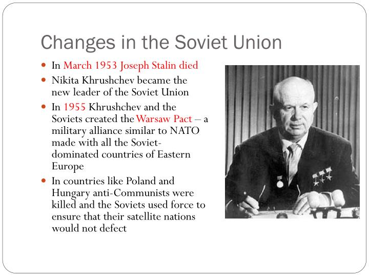 Changes in the Soviet Union