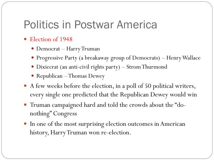 Politics in Postwar America