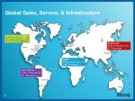 global sales service infrastructure