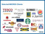 selected micros clients