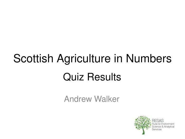 scottish agriculture in numbers n.
