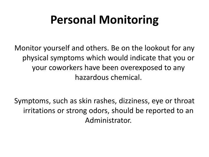 Personal Monitoring