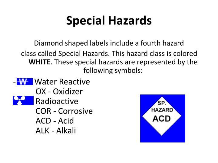 Special Hazards