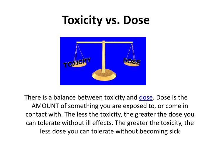 Toxicity vs. Dose