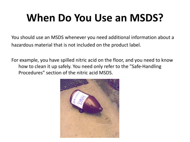 When Do You Use an MSDS?