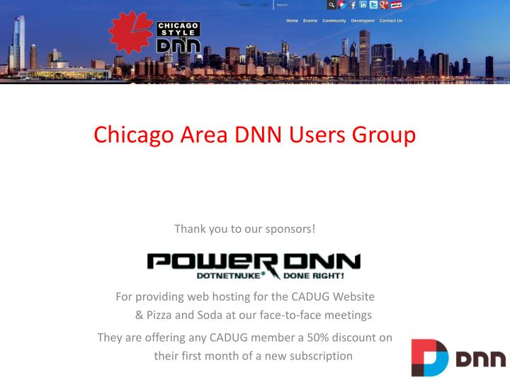 chicago area dnn users group n.