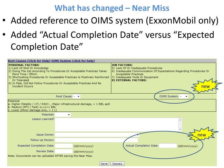 exxonmobil oims