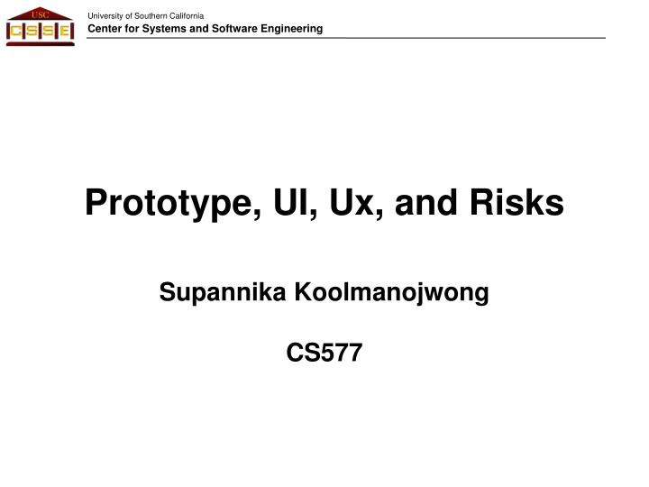 prototype ui ux and risks n.