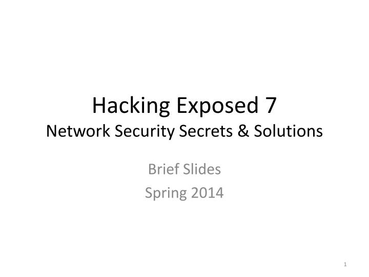 hacking exposed 7 network security secrets solutions n.