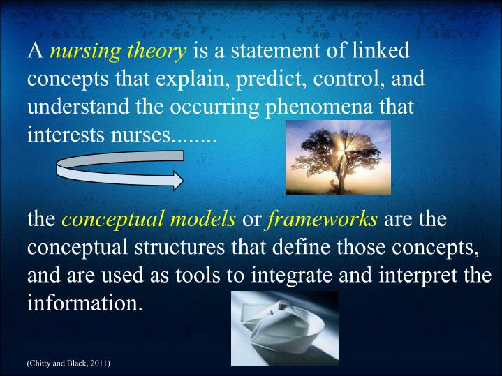 nursing conceptual model presentation Application of the model into the clinical setting people invited to a presentation do not need a prezi account this link expires 10 minutes after you close the presentation.