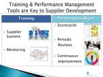 training performance management tools are key to supplier development