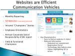 websites are efficient communication vehicles