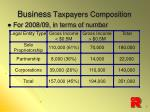 business taxpayers composition