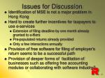 issues for discussion