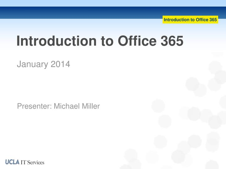 introduction to office 365 n.