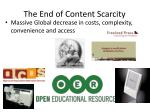 the end of content scarcity