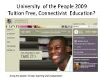 university of the people 2009 tuition free connectivist education