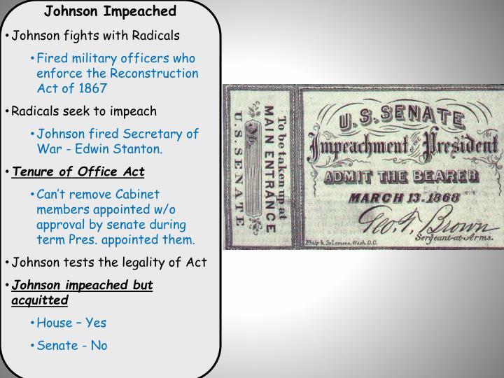 Johnson Impeached
