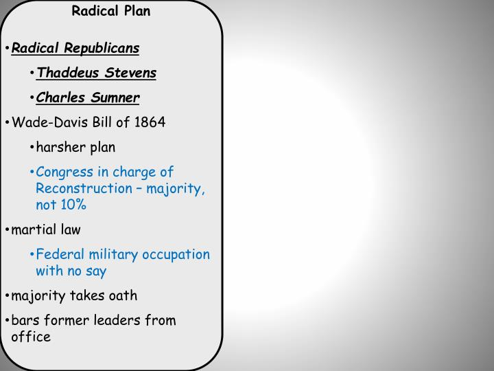 Radical Plan