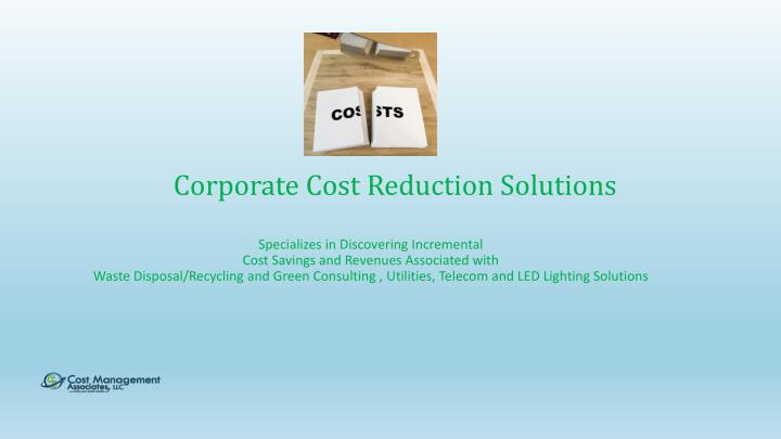 corporate cost reduction solutions n.