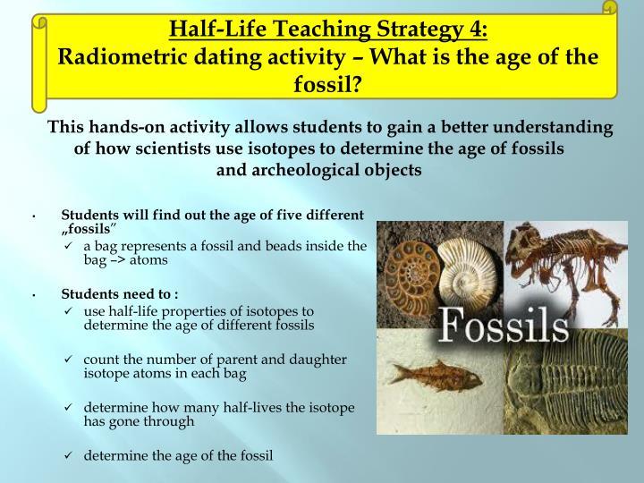 Half-Life Teaching Strategy 4: