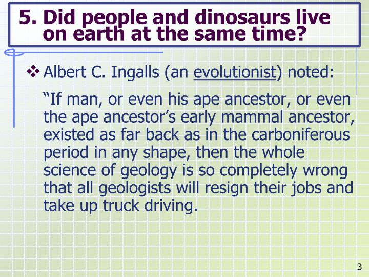 5 did people and dinosaurs live on earth at the same time1