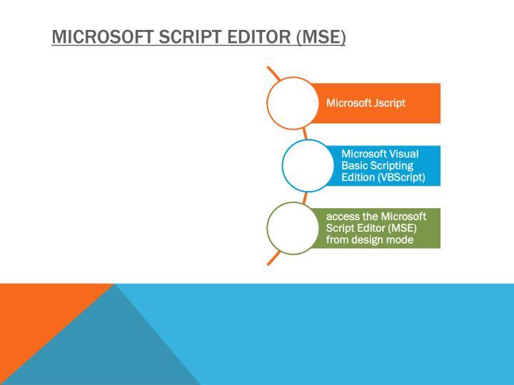 Microsoft Script Editor (MSE)