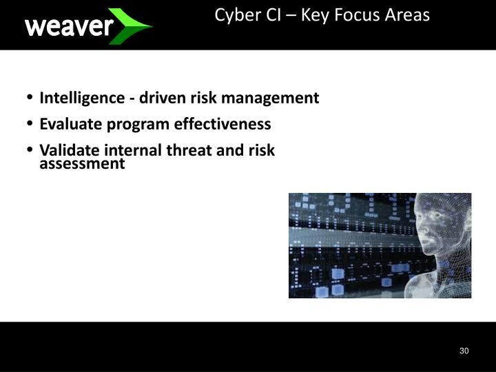 Cyber CI – Key Focus Areas