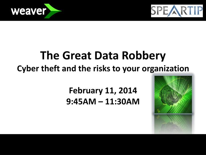 The Great Data Robbery