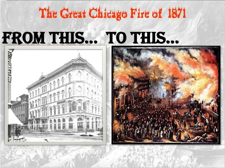 Ppt The Great Chicago Fire Of 1871 Powerpoint Presentation Free
