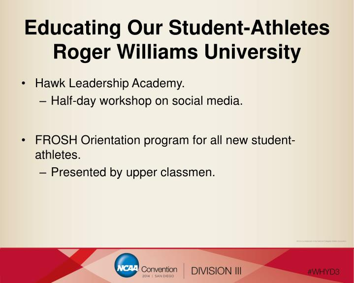 Educating Our Student-Athletes