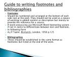guide to writing footnotes and bibliographies