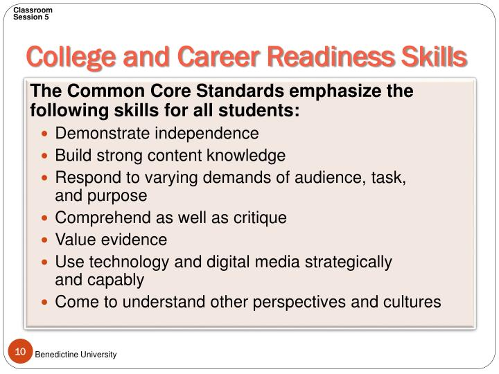 College and Career Readiness Skills