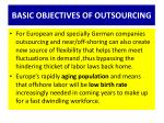 basic objectives of outsourcing1