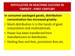 difficulties in reaching success in twenty first century1