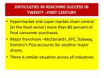 difficulties in reaching success in twenty first century2
